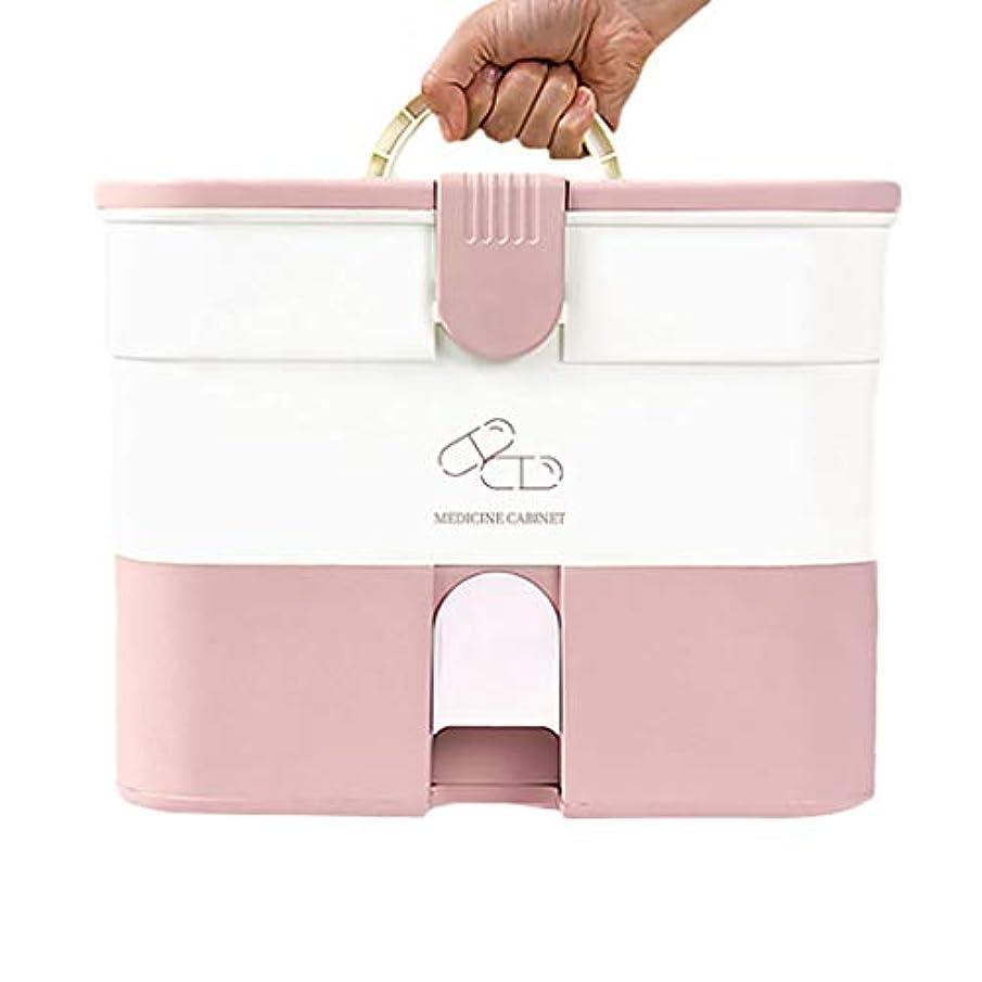 判決少ないブース携帯用薬箱の世帯の大容量の多層薬剤の収納箱の救急箱 HUXIUPING (Size : Capsule models)