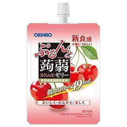 オリヒロ ぷるんと蒟蒻ゼリー さくらんぼ 130gパウチ×48本入×(2ケース)