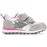 La Redoute Collections Girls Sparkly Touch 'N' Close Trainers, Sizes 1-9.5