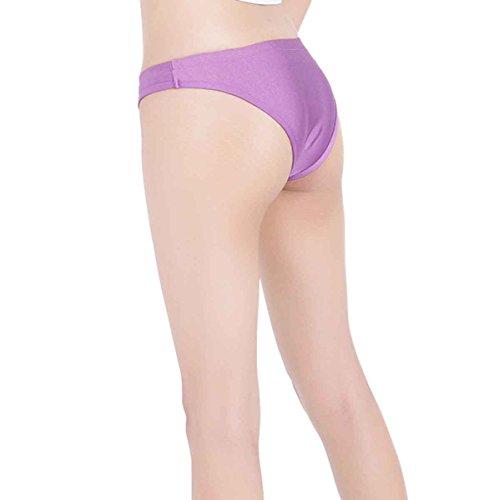ツルツルニット ローライズ ソング ショーツ KN88 レディースMLサイズ, 紫