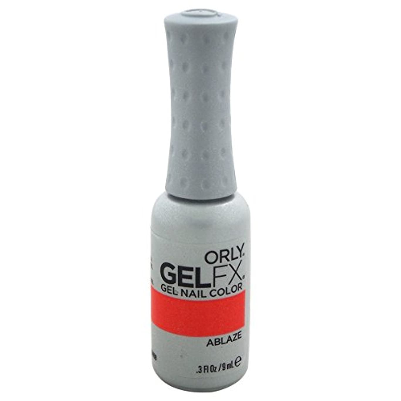 木材ノーブル安西Orly GelFX Gel Polish - Ablaze - 0.3oz / 9ml