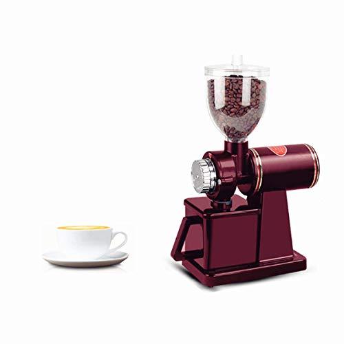 BAOSHISHANコーヒーグラインダー 電動コーヒーグラインダー 電動コーヒーミル 小型コーヒーミル 細挽き 中挽き 粗挽きまで8段階に対応 家庭用 卓上型 小型ミル大豆 米 小麦粉ミル ワインレッド110V