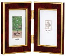 NAKABAYASHI 樹脂製写真立 マーブル(大理石調) L判タテ+L判タテ 2面タイプ レッド フ-TP-151-R