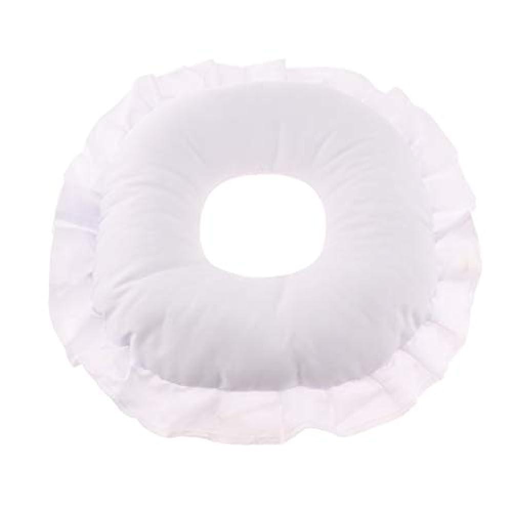 マルクス主義者貧しいゼリーマッサージテーブルピロー フェイスピロー 顔枕 フェイスクッション 柔軟 洗えるカバー 全3色 - 白