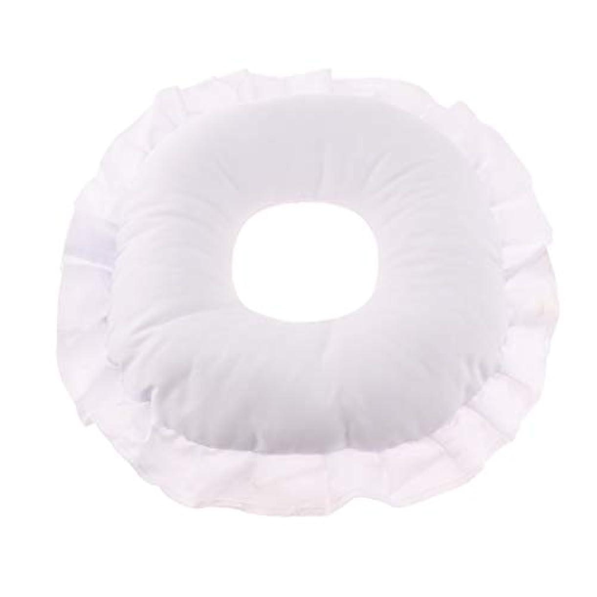 ティーンエイジャーカレッジ人物Fenteer マッサージテーブルピロー フェイスピロー 顔枕 フェイスクッション 柔軟 洗えるカバー 全3色 - 白