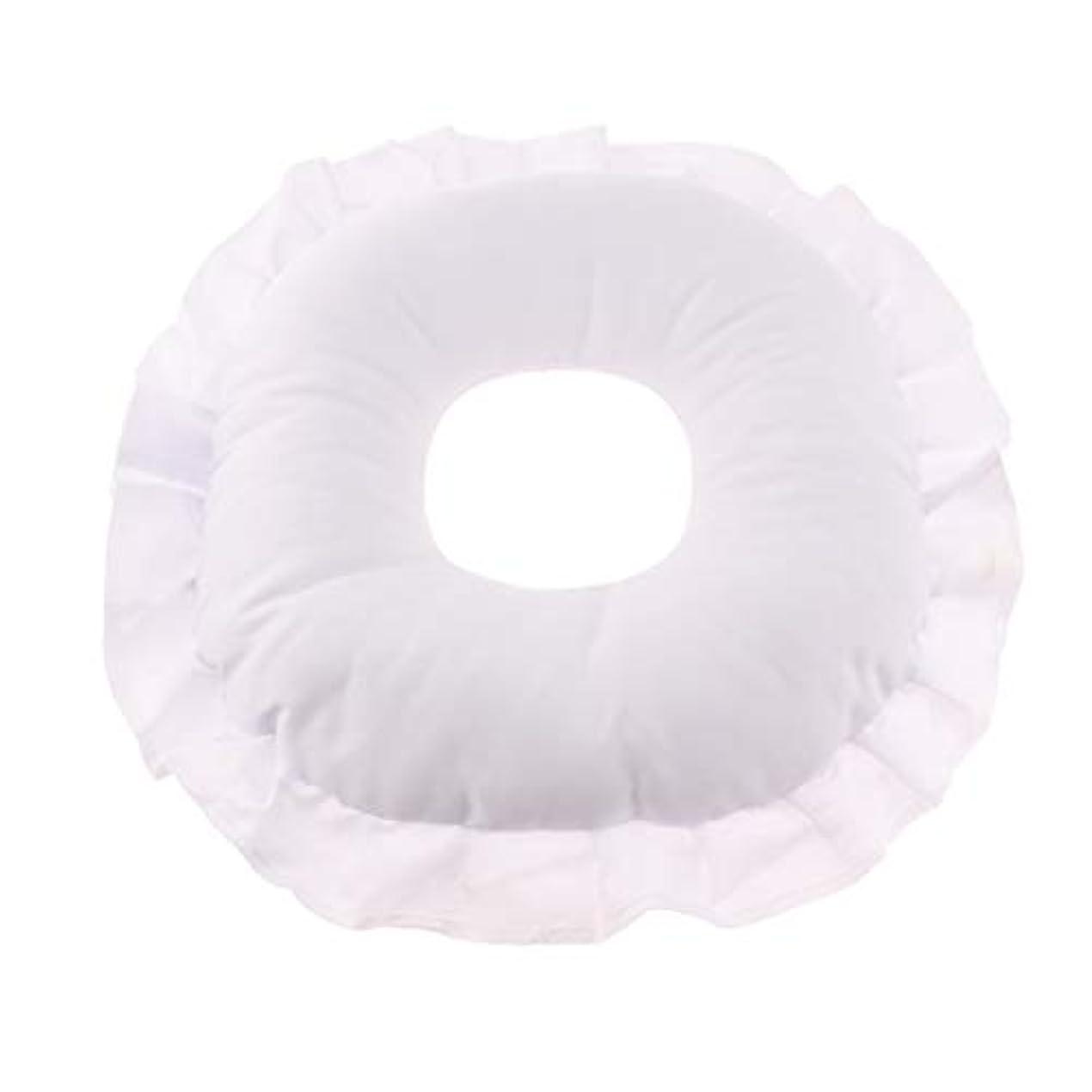 戻る勢いブースFenteer マッサージテーブルピロー フェイスピロー 顔枕 フェイスクッション 柔軟 洗えるカバー 全3色 - 白