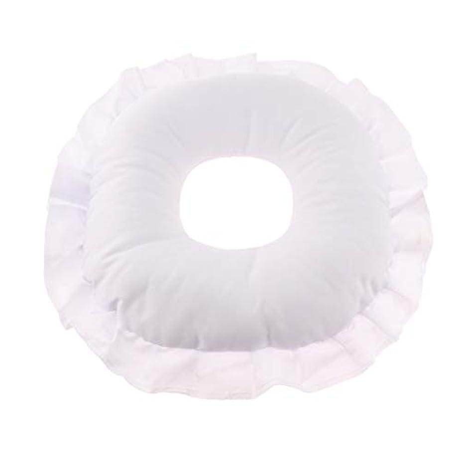 器具検証ラウンジマッサージテーブルピロー フェイスピロー 顔枕 フェイスクッション 柔軟 洗えるカバー 全3色 - 白