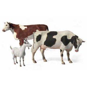 1/35 家畜セット-牛2頭ヤギ1頭