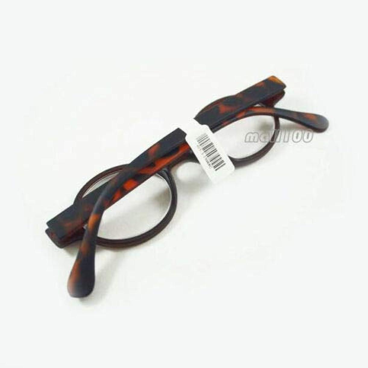 カスタム近々場合FidgetGear ラウンドプラスチックレトロ老眼鏡フルフレームユニセックスブラックブラウンヒョウ赤 ヒョウ