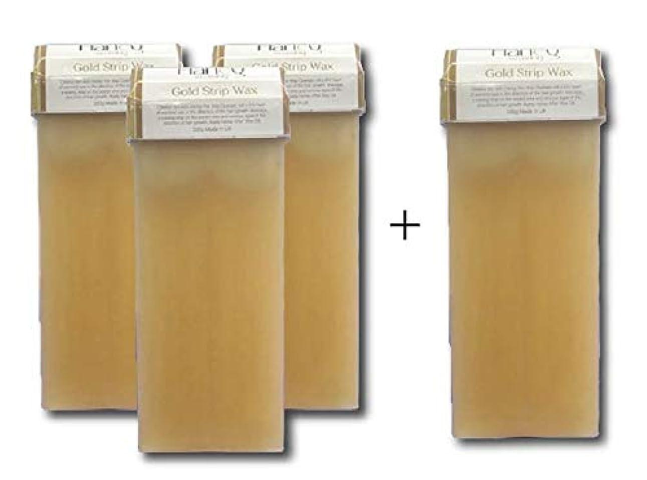 感じ概念不完全なセルフゴールドワックス(100g) 3本セット + 1本おまけ ブラジリアンワックス