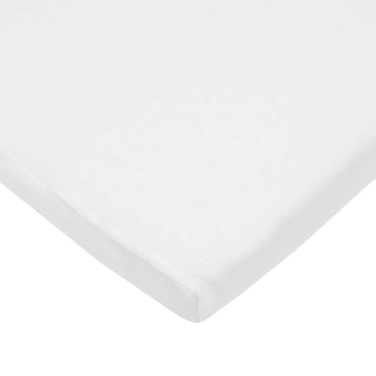 American Baby Company 100% Cotton Supreme Jersey Knit Fitted Cradle Sheet, White by American Baby Company