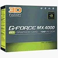 3d Fuzion GeForce mx4000PCIグラフィックカード128MB DDR
