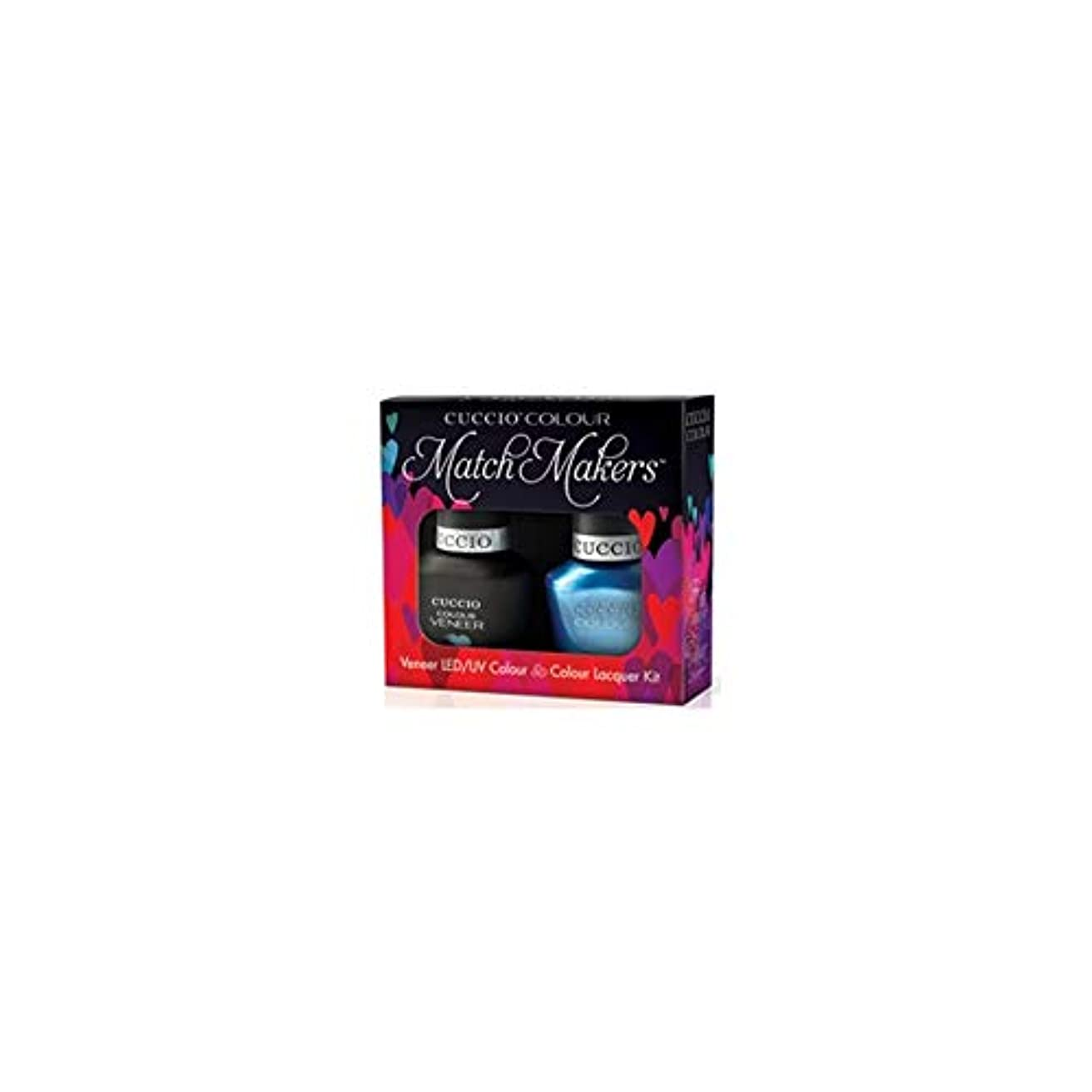 テレビ局薄めるピッチャーCuccio MatchMakers Veneer & Lacquer - Making Waves - 0.43oz / 13ml Each