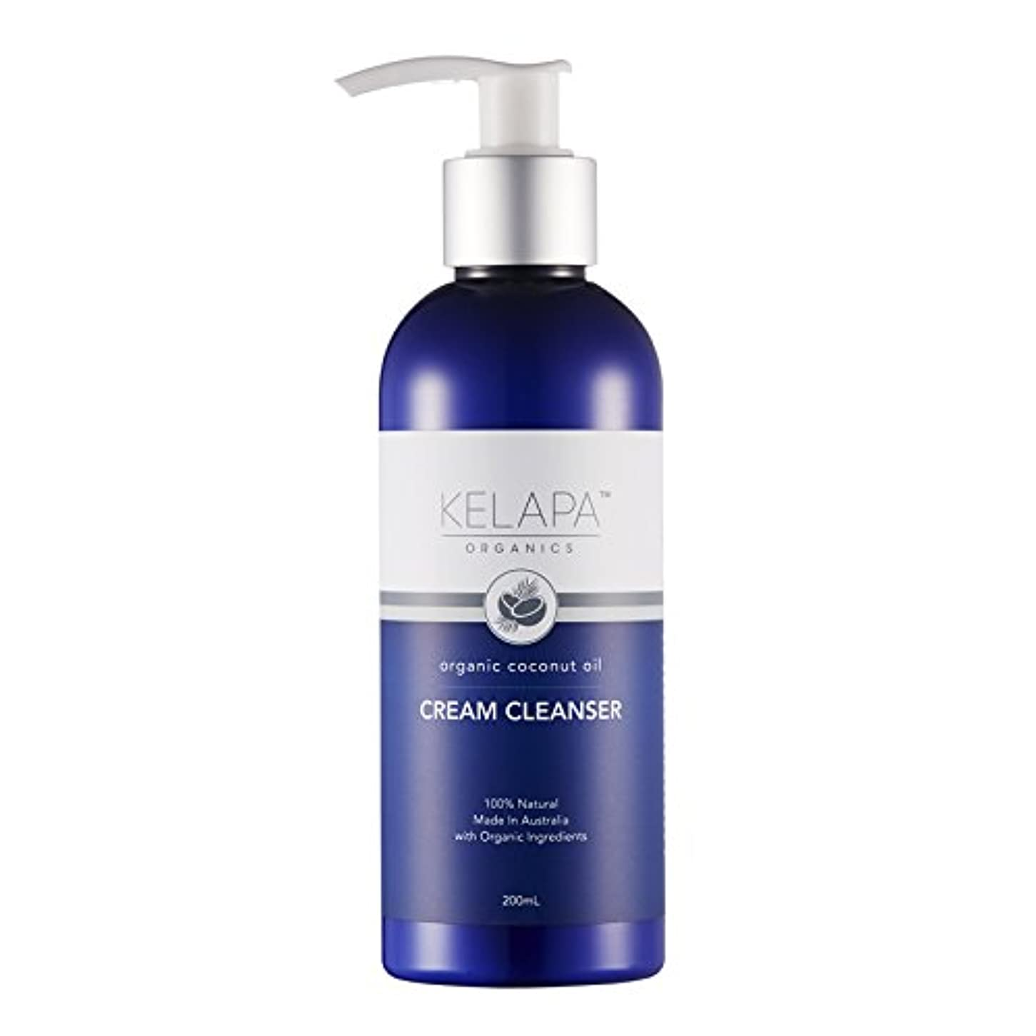 省略成長する注入Kelapa Organics Face Cream Cleanser クリームクレンザー 200ml