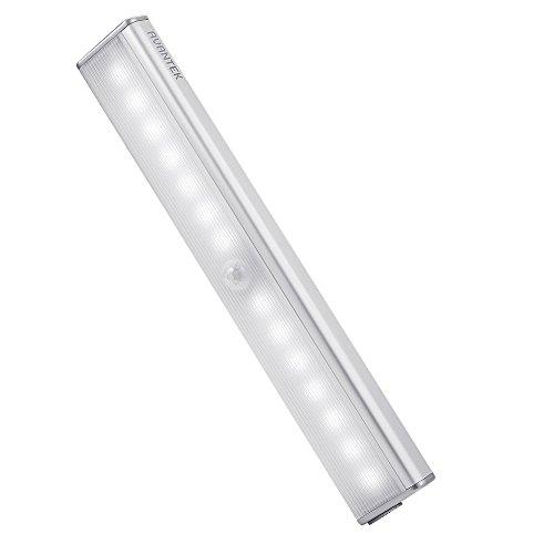 AVANTEK LEDセンサーライト 改良版 14LED 人感センサーライト 明るさ4段階調整可能 USB充電式 省エネ 超寿命 マグネット付き 階段 クロゼット 玄関に最適 昼光色 (一個)