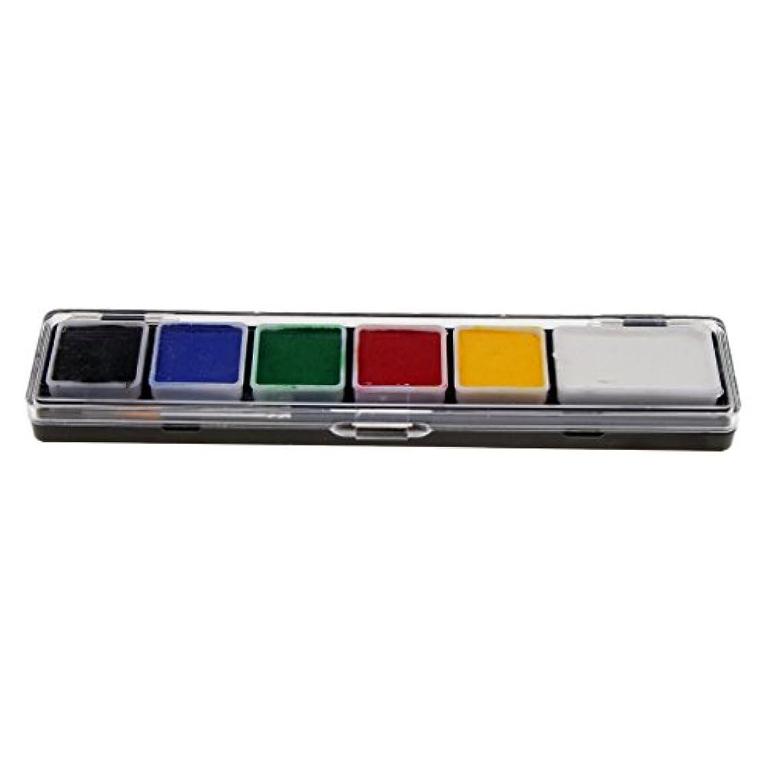 クリケット誤キルトToygogo 6色の無毒なフェイス&ボディペイントペイントブラシキットと派手なパーティーアートツール - RT005A