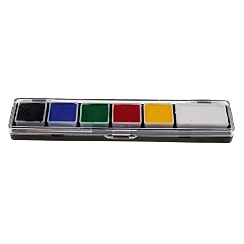 最適選挙細胞Toygogo 6色の無毒なフェイス&ボディペイントペイントブラシキットと派手なパーティーアートツール - RT005A