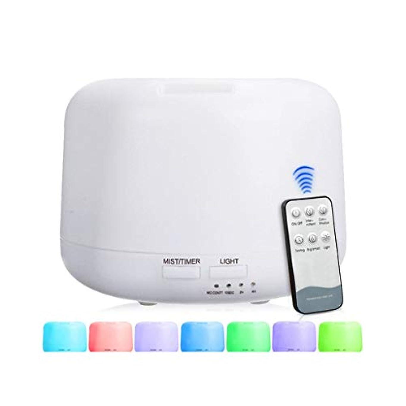サドル大通りエージェント300 Mlアドバンストディフューザー、超音波蒸発器加湿器、タイマーおよび自動遮断安全スイッチ、7 LEDライトカラー (Color : Warm white)