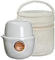 EILONG 茶具クイッカー 中華茶器 旅行セット ポータブル 台湾茶 磁器 お茶出し 携帯式 軽量 通勤 お出かけ用 自宅用