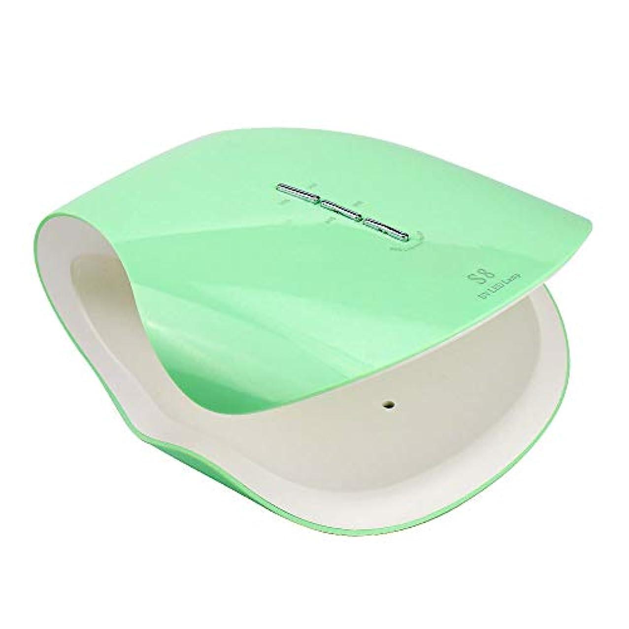 有用ベスビオ山滑り台48Wプロフェッショナル硬化ネイルドライヤーマシンネイルランプサロン機器UV LEDライトセラピージェルポリッシュランプ適切なマニキュア,グリーン