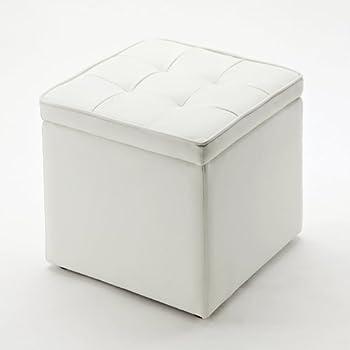 サンワダイレクト 収納スツール 足置きとしても使える ボックススツール ホワイト 150-SNCBOX1W