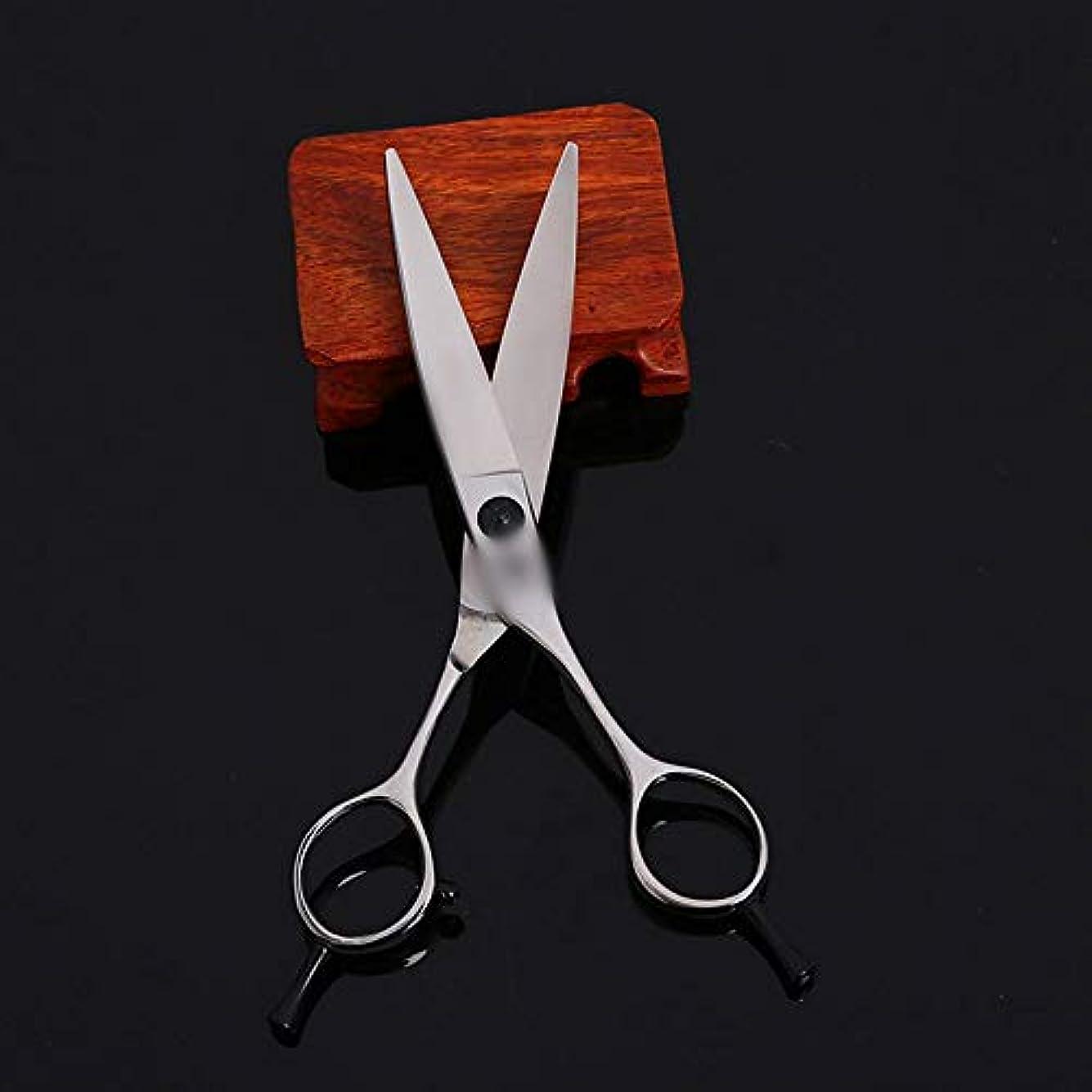 オール振り向く摂氏度TAKAYAMA 6インチ美容院プロの美容院ハサミハイエンド理髪ツールカーリングハサミ (色 : Silver)