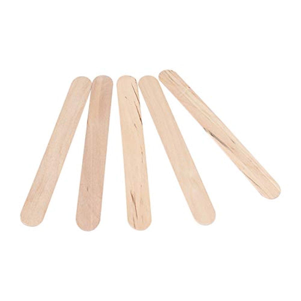 勝者満たすアイドルSTOBOK 300PCSワックスは使い捨てワックスへらスティック木製のワックス塗布器は、木材舌圧子木製のアイスキャンデークラフトスティックスティック