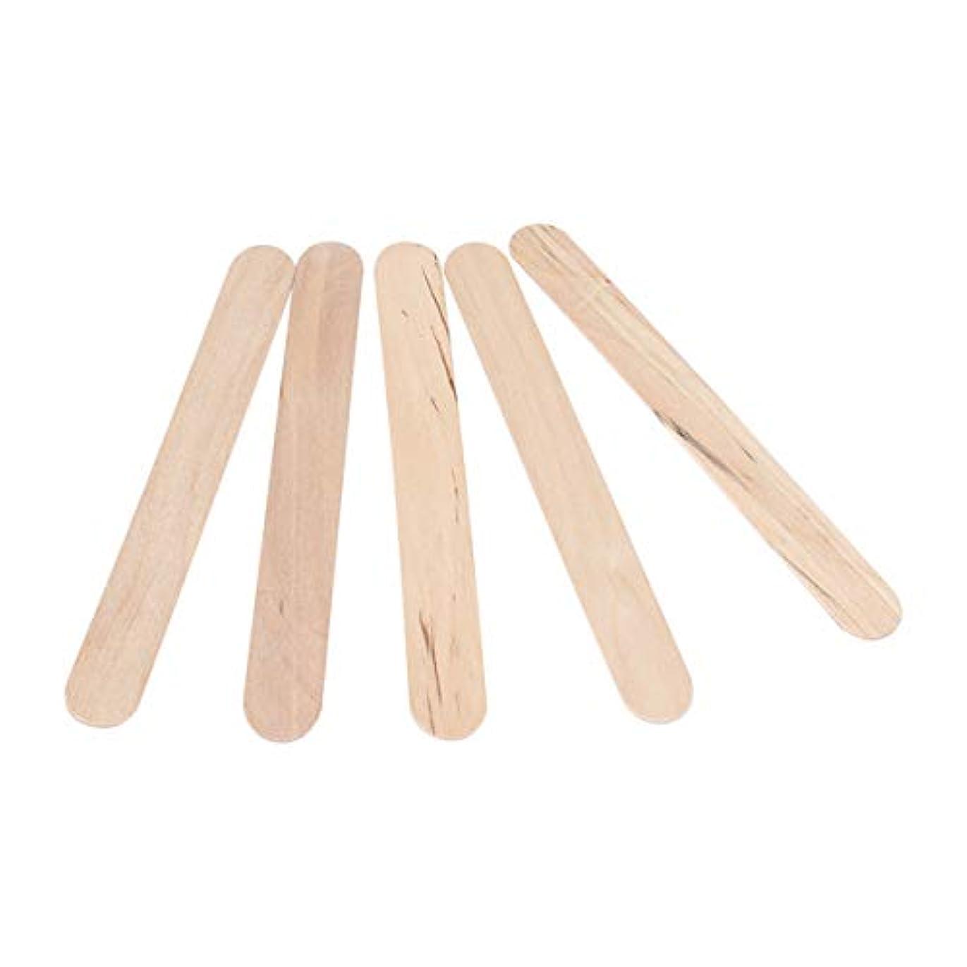 悲劇スローガン寛大さSTOBOK 300PCSワックスは使い捨てワックスへらスティック木製のワックス塗布器は、木材舌圧子木製のアイスキャンデークラフトスティックスティック