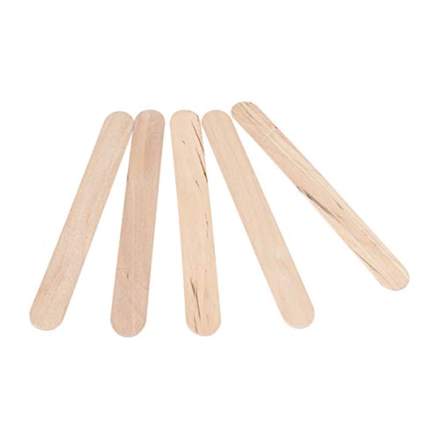 病弱指令年STOBOK 300PCSワックスは使い捨てワックスへらスティック木製のワックス塗布器は、木材舌圧子木製のアイスキャンデークラフトスティックスティック