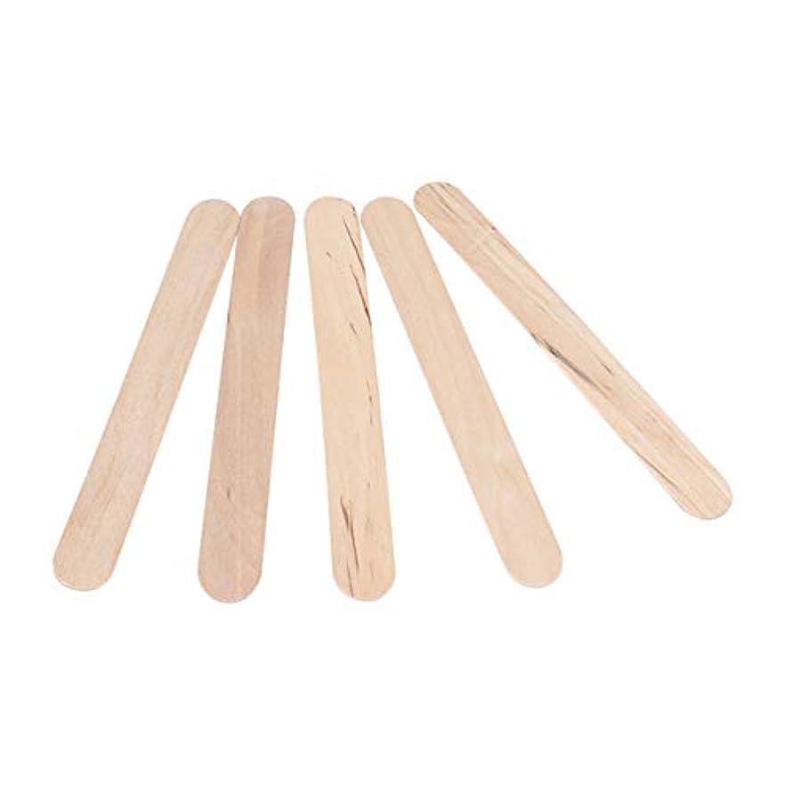 徒歩でパン小説家STOBOK 300PCSワックスは使い捨てワックスへらスティック木製のワックス塗布器は、木材舌圧子木製のアイスキャンデークラフトスティックスティック