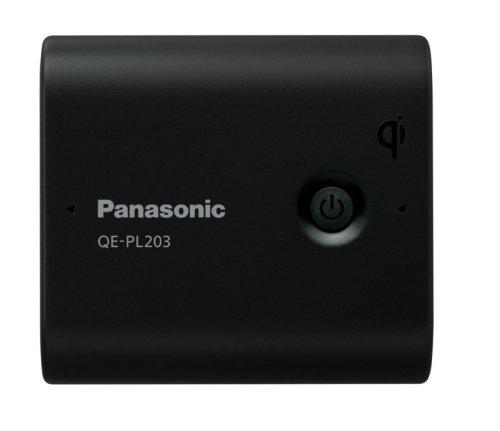 Panasonic モバイルバッテリー 5,800mAh 無接点充電(Qi)対応 USBモバイル電源 ブラック QE-PL203-K