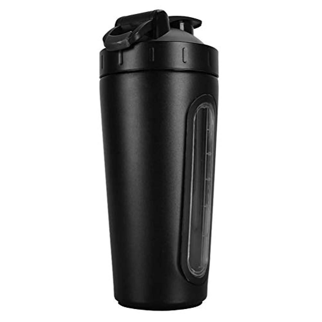 することになっているホイップ腰Erose-BD 2019新型 304ステンレスプロテインシェイカーボトル プロテインシェイカー シェイカー ボトル 水筒 ウォーターボトル (800ml) 1個 黒