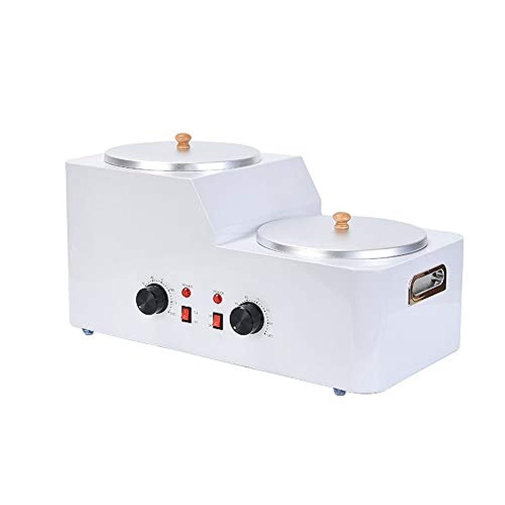 震えすり知覚できる自宅での脱毛のための5Lダブルポットワックスウォーマーワックス、調節可能な温度ワックスヒーター