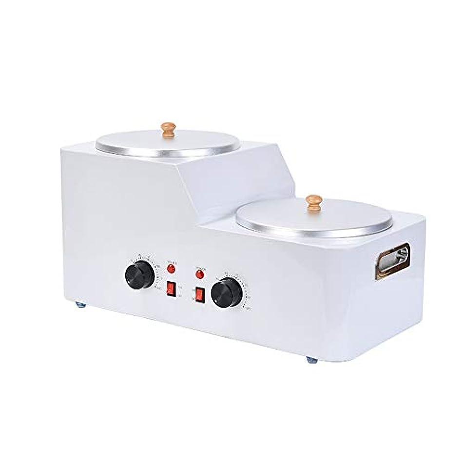 バーターバースト許容自宅での脱毛のための5Lダブルポットワックスウォーマーワックス、調節可能な温度ワックスヒーター