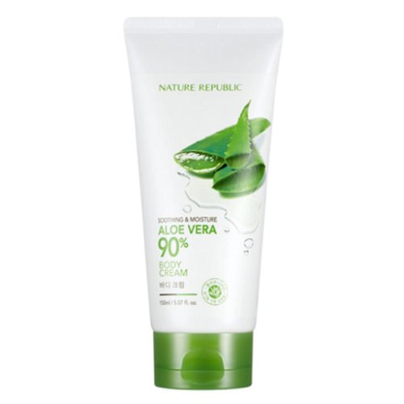 イベント指導する苦しむ[ネイチャーリパブリック] Nature republicスージングアンドモイスチャーアロエベラ90%ボディクリーム海外直送品(Soothing And Moisture Aloe Vera90%Body Cream) [並行輸入品]