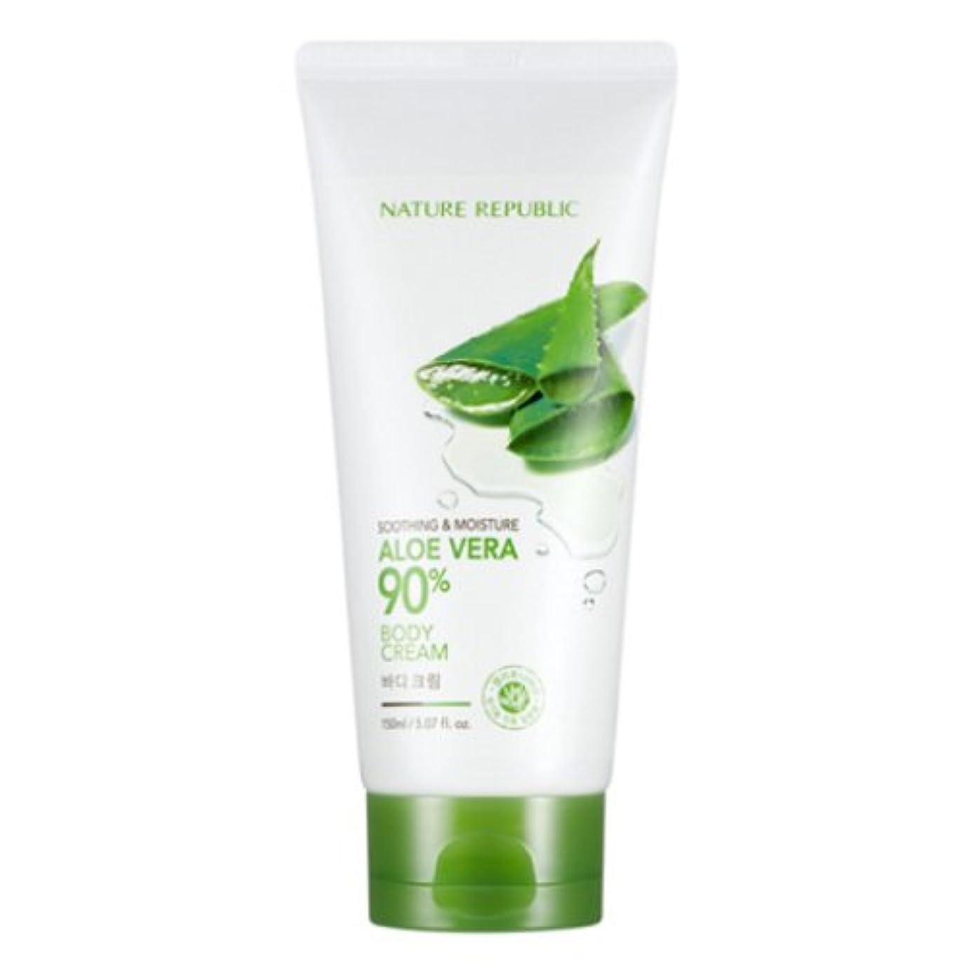 示す勤勉上に築きます[ネイチャーリパブリック] Nature republicスージングアンドモイスチャーアロエベラ90%ボディクリーム海外直送品(Soothing And Moisture Aloe Vera90%Body Cream)...
