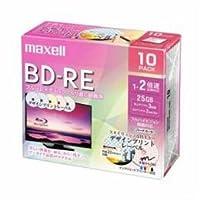 【まとめ 2セット】 maxell BEV25PME10S 録画用BD-RE デザインプリントレーベルディスク 1-2倍 25GB 10枚 うす型5mmケース