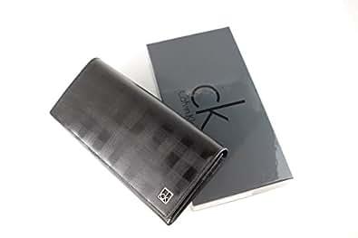 CK カルバンクライン かぶせ長財布 メンズ ブラック calvin077