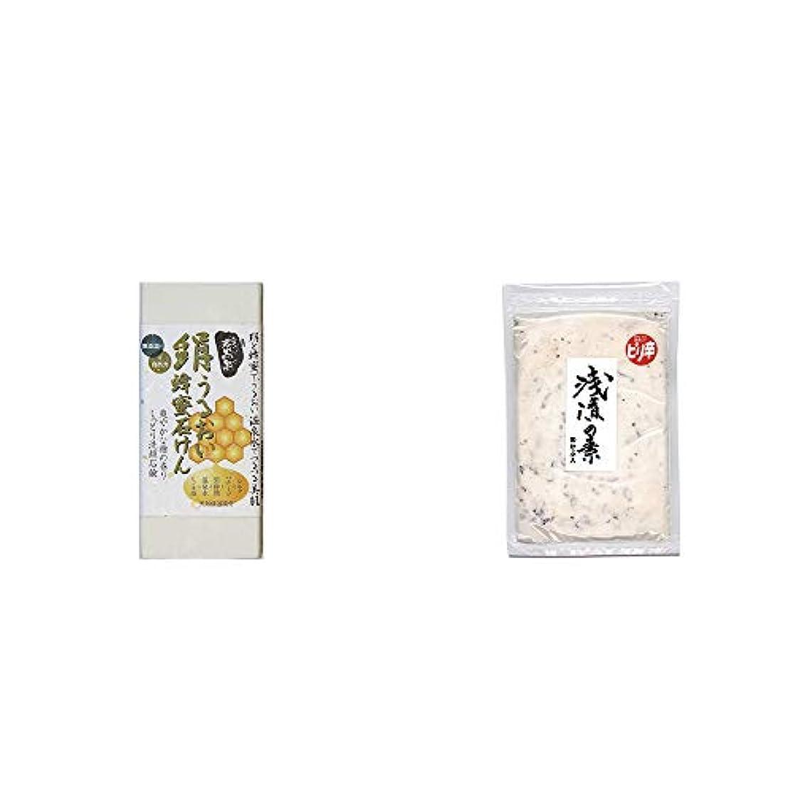 [2点セット] ひのき炭黒泉 絹うるおい蜂蜜石けん(75g×2)?浅漬けの素[小](150g)