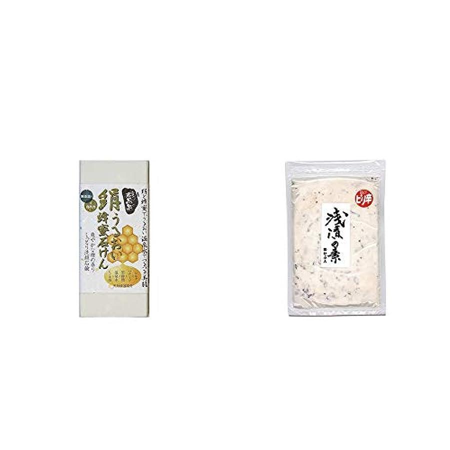 お勧めヒューム驚くべき[2点セット] ひのき炭黒泉 絹うるおい蜂蜜石けん(75g×2)?浅漬けの素[小](150g)