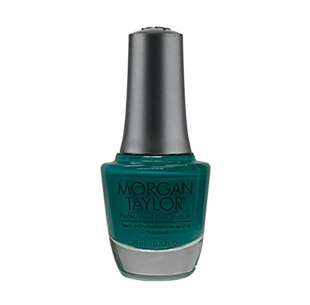 無知思慮のない狭いMorgan Taylor Nail Lacquer - Rocketman Collection - Sir Teal To You - 15ml / 0.5oz