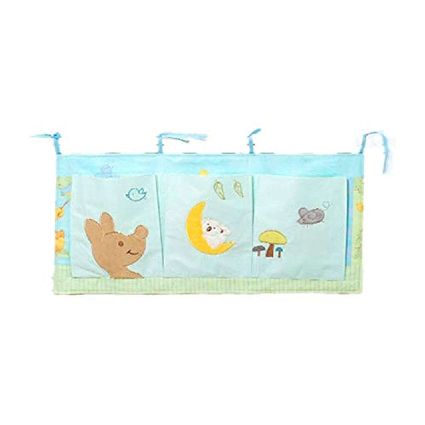 下品セージ子羊収納ポケット 赤ちゃんの必需品のためのベッドハンギング収納袋保育園オーガナイザーと赤ちゃんのおむつキャディハンギングおむつ組織 (色 : Picture Color, サイズ : 32X70CM)