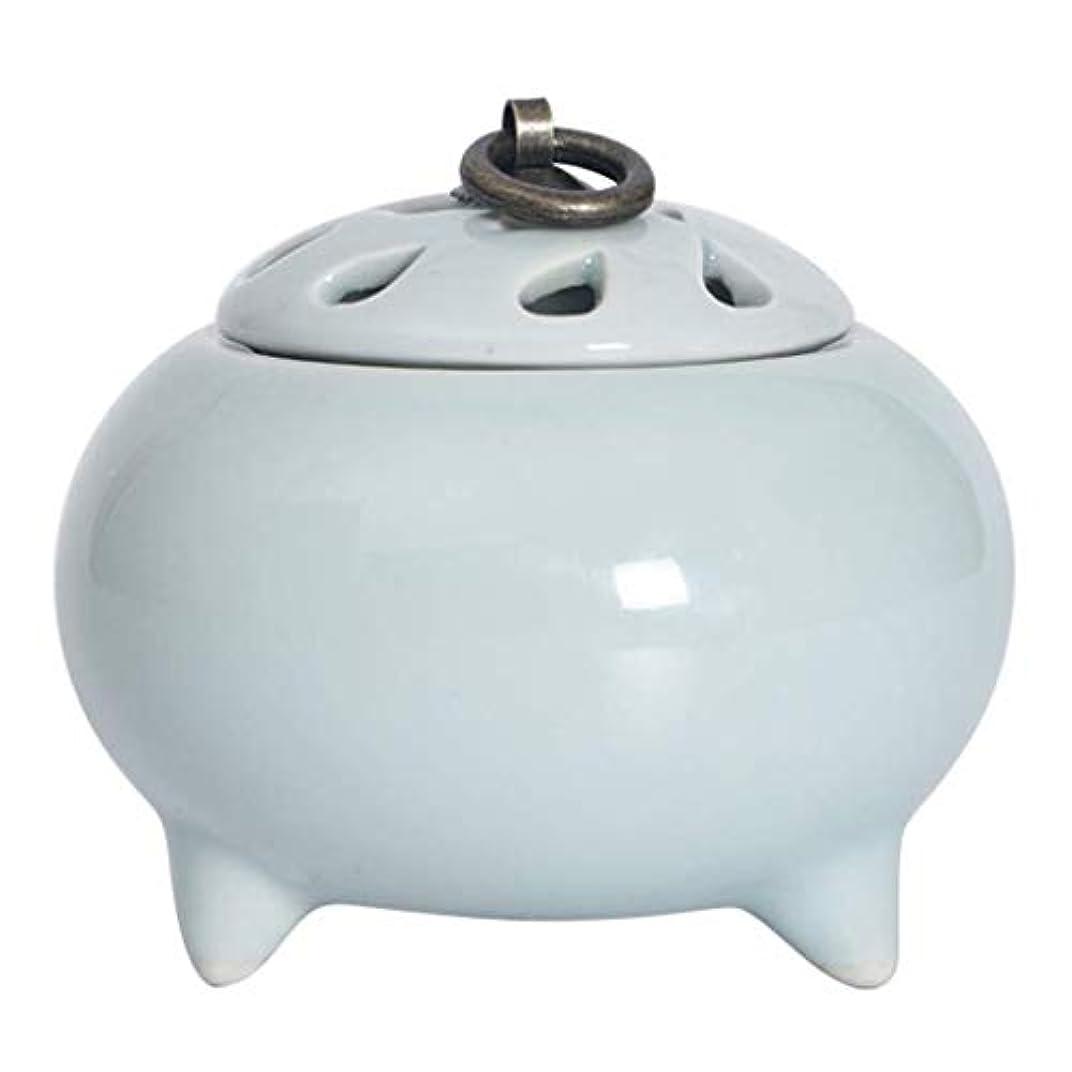 電気陽性宣言羊飼いMYTDBD ホーム/オフィス/スパ、グリーンのための香炉セラミック電子アロマディフューザー炉 (Color : Light Blue)