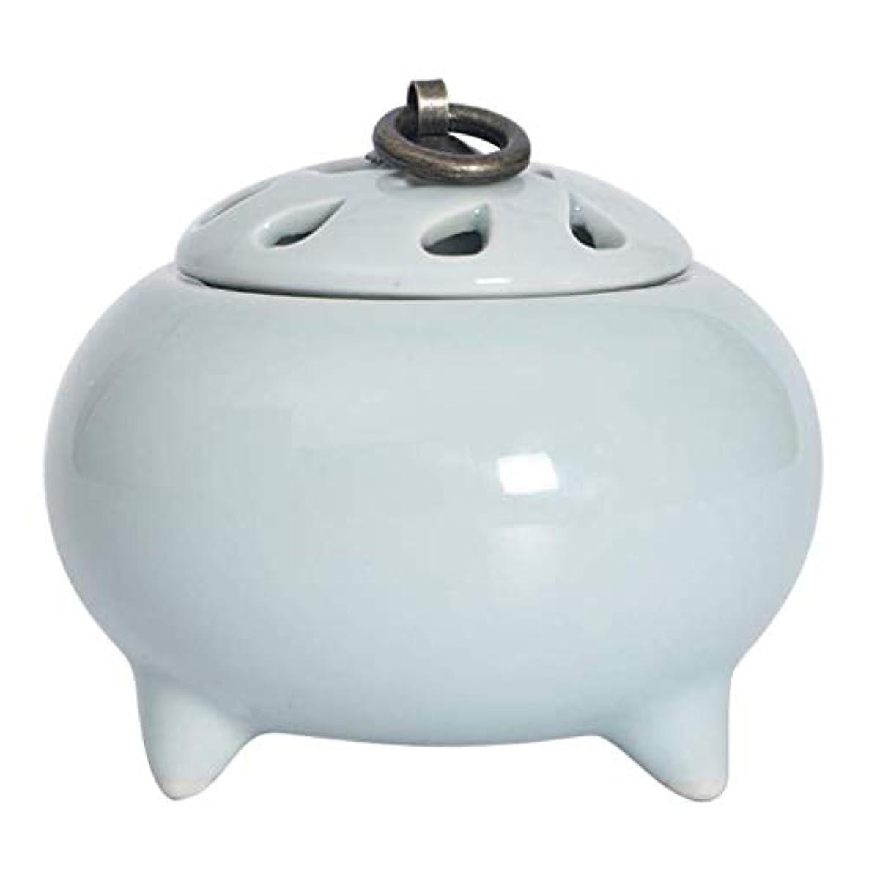 しない欲求不満誓いMYTDBD ホーム/オフィス/スパ、グリーンのための香炉セラミック電子アロマディフューザー炉 (Color : Light Blue)