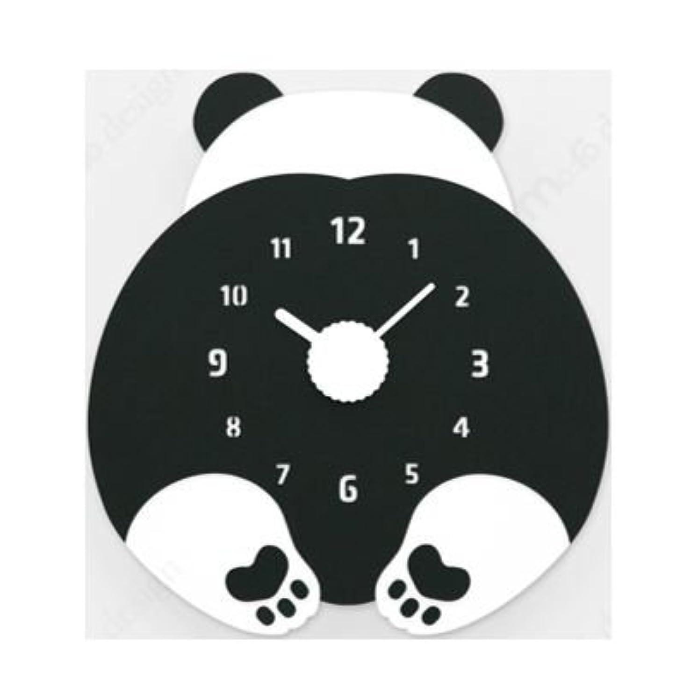 ハンドメイド 壁掛け時計 CHUBBY HIP (パンダ)