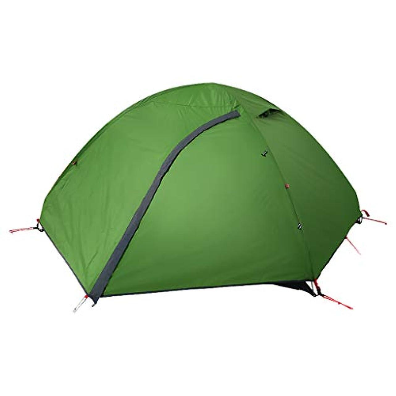 行列ブラケット世辞Roscloud 屋外2人テントダブルレイヤー防水旅行キャンプフィールドテント