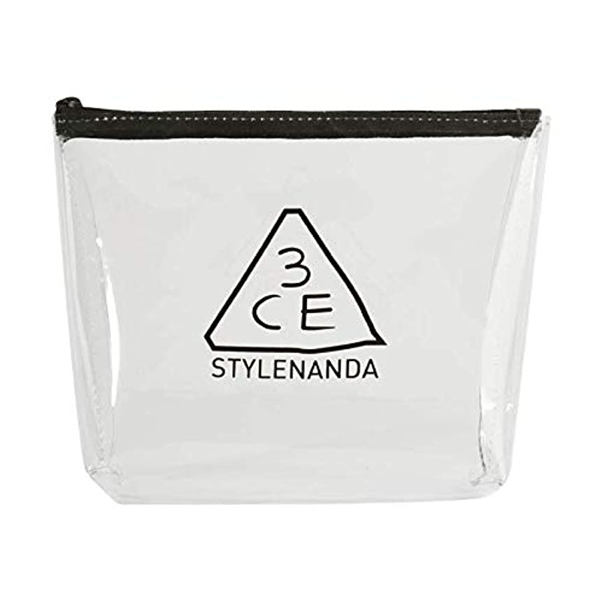 3CE クリアトラペーズポーチ CLEAR TRAPEZE POUCH #BLACK [並行輸入品]