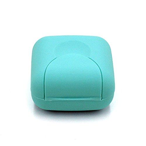 Kingdetector プラスチック石鹸ボクスケースシャワーコンテナ旅行ハイキングプレートホルダーS (青)