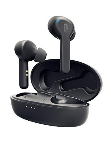 ワイヤレス イヤホン TaoTronics Bluetooth 5.0 イヤホン 高音質 合計40時間連続再生 IPX5防水 超軽量4g 3Dステレオサウンド 自動ペアリング AAC対応 左右分離型 Siri対応 音量調整 充電ケース付き 片耳&両耳とも対応 TT-BH053
