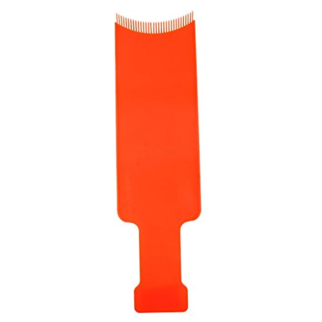 ハンドブック一流貫通染色櫛プレート 染めボード 髪を染め 頭皮保護 着色ボード ヘアブラシ ヘアコーム ヘアカラー 櫛 2サイズ2色選べる - オレンジ, L